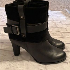 Nine West Nautica Leather Suede Ankle Boots